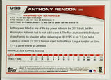 Rendon, Anthony, Rookie, Washington, Nationals, Angels, Topps Update, Topps, RC, Baseball Cards