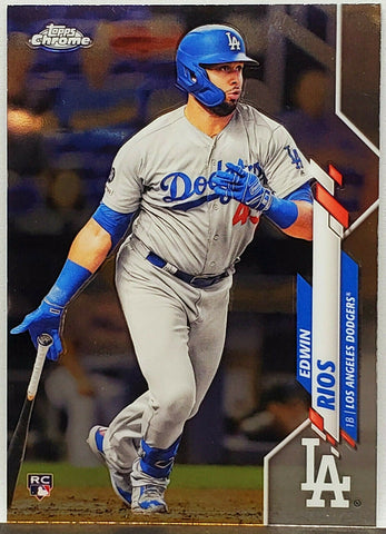 Rios, Rookie, Edwin, Topps, Chrome, Los Angeles, Dodgers, Slugger, Home Runs, RC, Baseball Cards