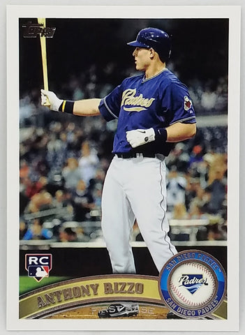 2011 Topps Update #US55 Anthony Rizzo Rookie, Padres, Cubs WS Champs!