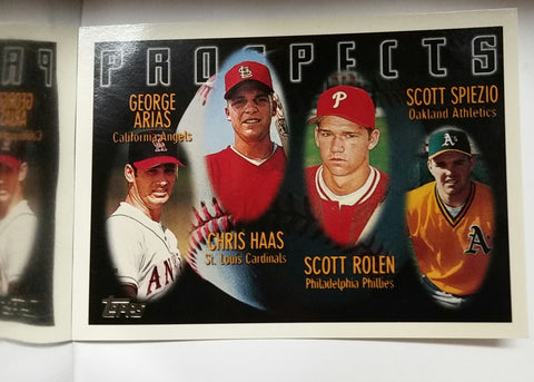 Rolen, Scott, Phillies, Philadelphia, 3rd Base, Rookie Card, RC, Spiezio, Scott, Baseball Cards, Topps, 1996