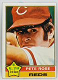 Pete Rose 1976 Topps #240 Set Break ORIGINAL Card, Hit King, Cincinnati Reds Big Red Machine World Series Charlie Hustle
