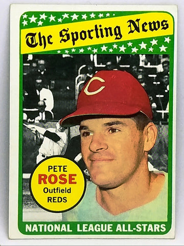 1969 TOPPS #424 HOT PETE ROSE SPORTING NEWS ALL-STAR SET BREAK GLOSSY...WOW!