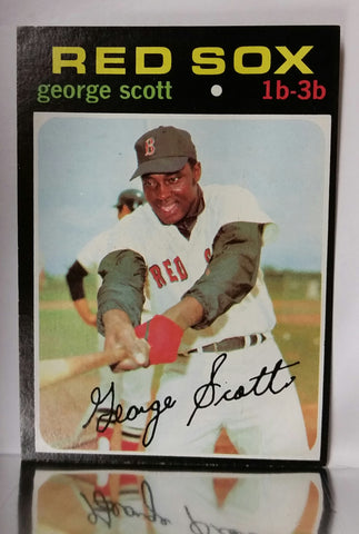 Scott, George, Red Sox, Boston, 1st Base, Carl Yastrzemski, Baseball Card, Topps, 1971