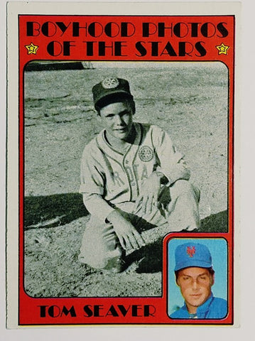 1972 Topps #347 Tom Seaver (HOF) Boyhood Photos, NM, Mets Pitcher SET BREAK HOT