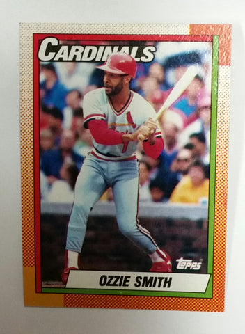 Smith, Ozzie, Cardinals, St. Louis, HOF, All-Star, Shortstop, Wizard of Oz, This Week in Baseball, TWIB, Baseball Cards, Topps, 1990, backflips, acrobat