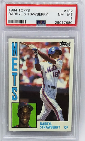 Strawberry, Rookie, Topps, Graded, PSA 8, New York, Mets, ROY, World Series, Home Runs, Baseball Cards