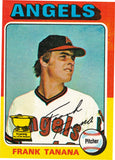 1975 TOPPS MINI #16 FRANK TANANA ROOKIE CARD, ANGELS PITCHER * SET BREAK! *