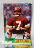 Joe Theismann, Redskins, Washington, NFL, football, Passing, Rushing, Yards, Topps, Football Card, 1981