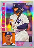 Torres, Gleyber, Refractor, Chrome, Insert, Rookie, 1984, Retro, New York, Yankees, Home Runs, Topps, RC, Baseball Cards