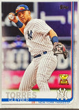 Torres, Gleyber, Rookie, Cup, Trophy, New York, Yankees, Home Runs, Topps, RC, Baseball Cards