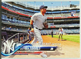 Torres, Gleyber, Rookie, Debut, New York, Yankees, Home Runs, Topps, Update, RC, Baseball Cards
