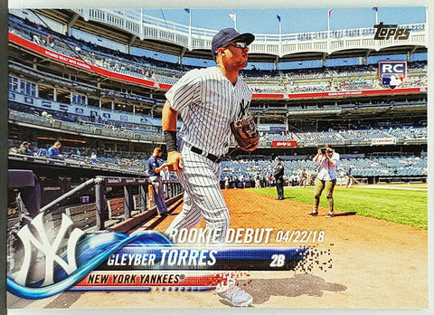 Gleyber Torres Rookie Debut! 2018 Topps Update #US191 New York Yankees