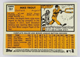 "2012 TOPPS HERITAGE MIKE TROUT ROOKIE #207 ANGELS MVP HOT & RARE ""PORTRAIT"" RC!!"