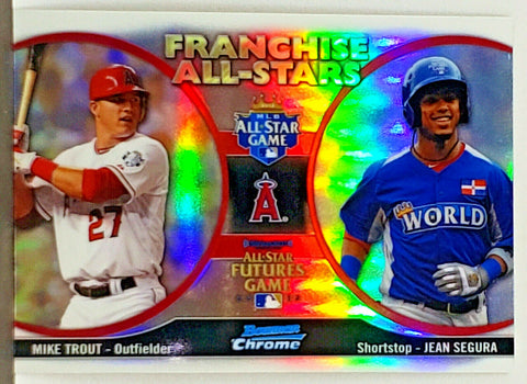 Trout, Rookie, Refractor, Mike, Franchise All Stars, Bowman Chrome, Topps, 3X MVP, Jean Segura, Los Angeles, Angels, Anaheim, Slugger, Home Runs, Baseball Cards
