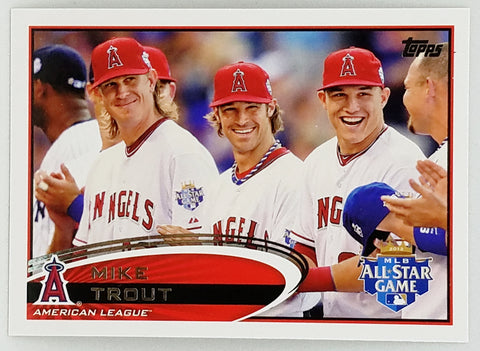 "2012 TOPPS UPDATE #US144 HOT ""SP"" MIKE TROUT ROOKIE PHOTO VARIATION"