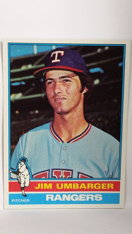1976 Topps # 7 Jim Umbarger, ROOKIE CARD, Pitcher, Texas Rangers, NM+, CardboardandCoins.com