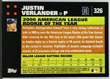 Verlander, Rookie, Rookie of the Year, ROY, Justin, Topps, Detroit, Tigers, Houston, Astros, Cy Young, Pitcher, Strikeouts, ERA, RC, Baseball Cards