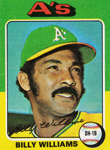 1975 TOPPS MINI #545 BILLY WILLIAMS, HOF, A's, ATHLETICS, CUBS * SET BREAK! *