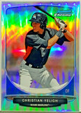 Yelich, Christian, Rookie, Refractor, Mini, CC-MM2, Miami, Marlins, MVP, Bowman, Chrome, Cream, Topps, RC, Baseball Cards