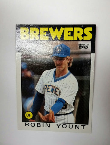 Robin Yount, Brewers, Milwaukee, MLB, Baseball Cards, Topps, 1986