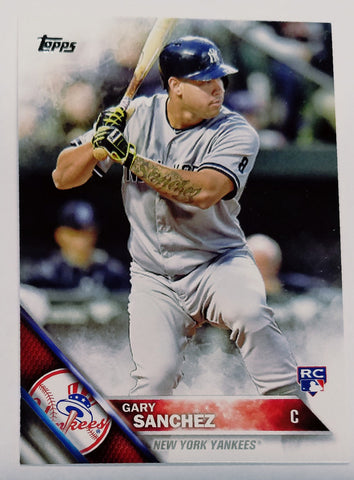 GARY SANCHEZ ROOKIE CARD 2016 Topps #675 Yankees Phenom Catcher, Sanchino! Hot!, CardboardandCoins.com