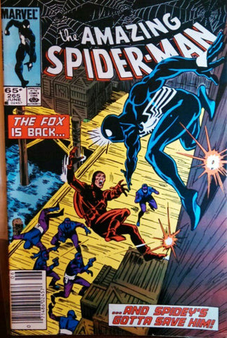 Amazing Spider-Man, 265, Marvel, Spiderman, 1st Appearance Silver Sable, Movie, Comic Book, Comics, Vintage, Book, Collect, Trading, Collectibles
