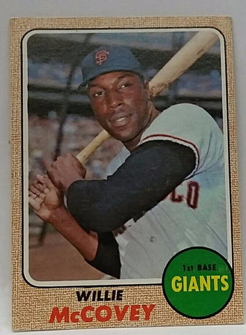 1968 Topps #290, Willie McCovey. Giants, HOF, 521 HRs, CardboardandCoins.com