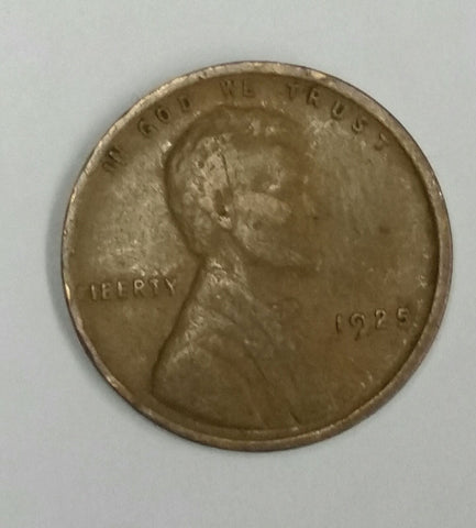 1925 Lincoln Wheat Cent (1925-P), Awesome Detail, Wheat Lines, Suit, Great Toning, Vintage Coin, CardboardandCoins.com