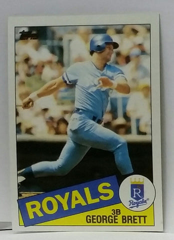 1985 Topps #100 George Brett, Kansas City Royals, Graded NM-MT, CardboardandCoins.com