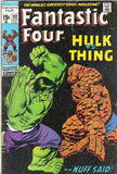 FANTASTIC FOUR #112 Marvel Comics 1971 Hulk/Thing Harkness/Masters Lee/Buscema, CardboardandCoins.com