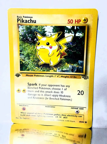 Pokemon, TCG, Jungle, 1st Edition, Pikachu