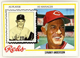 1978 Topps #401 Sparky Anderson, Manager, Cincinnati Reds, Set Break NM+