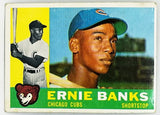 1960 Topps #10 Ernie Banks, HOF, Mr Cub, Chicago, White Back, Vintage, Hot
