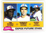 1981 Topps #479 Tim Raines Rookie, HOF, Expos, Stolen Bases, Set Break