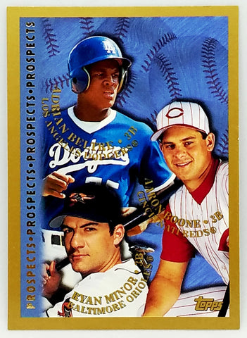 1998 Topps #254 Adrian Beltre Rookie Future HOF with Brett Boone, Set Break