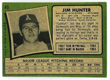 1971 Topps #45 Jim Hunter, Catfish, Athletics, World Series, Yankees, Hot