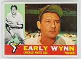 1960 Topps #1 Early Wynn, HOF Pitcher, Chicago White Sox, Rare White Back Card!!