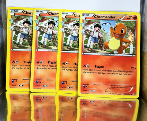 4x Charmander RC3/RC32 Pokémon XY Generations TCG, 4 x PACK FRESH CARD LOT!!