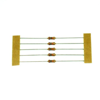 10K Resistor 0.25 Watt Carbon Film - 5 Pieces Pack
