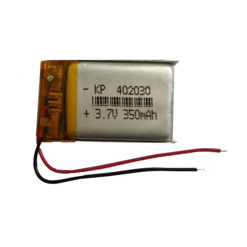 3.7V 350mAH (Lithium Polymer) Lipo Rechargeable Battery Model KP-402030