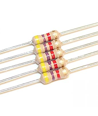 4.7K Ohm 1/4 Watt Carbon Film Resistor -5 Pieces Pack