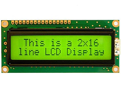 16x2 Green LCD Module HD44780 Displays Characters