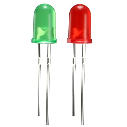 5mm Red, green LED pack