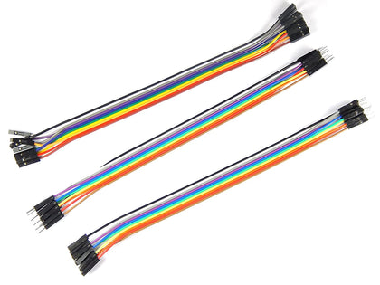 20cm Jumper cables assorted (10 M-M, 10 M-F, 10 F-F)