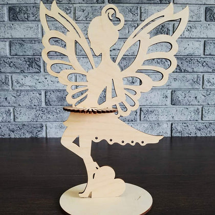 Butterfly Girl design based Wooden Napkin(Tissue Paper) Holder