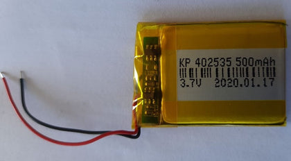 3.7V 500mAH (Lithium Polymer) Lipo Rechargeable Battery Model KP-402535