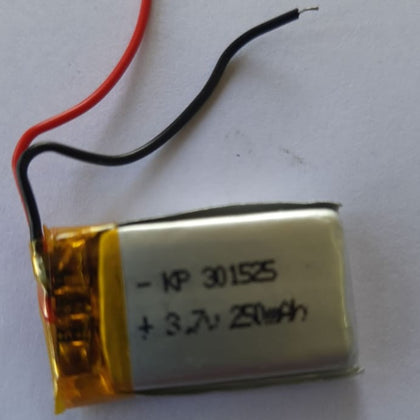 3.7V 250mAH (Lithium Polymer) Lipo Rechargeable Battery Model KP-301525