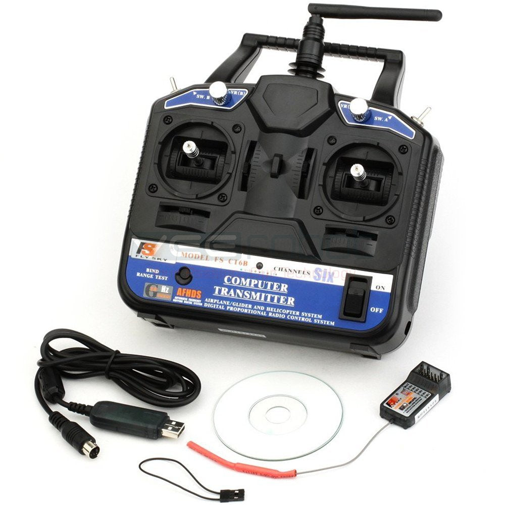Flysky CT6B Remote 6 Channel Transmitter and Receiver for Quadcopter