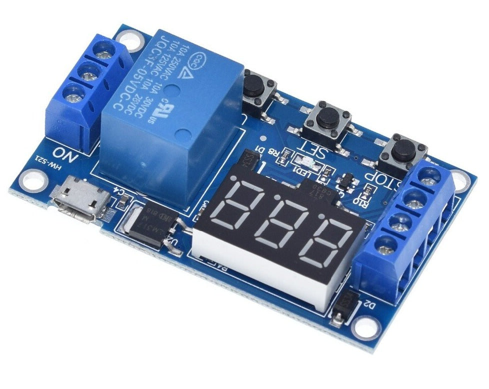 5V Delay Relay Board Digital Delay Timer Control Switch Relay Module with  LED Display