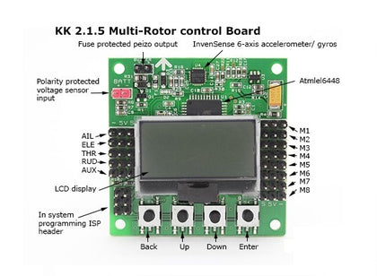 KK 2.1.5 Multi-Rotor LCD Flight Control Board with MPU for Quadcopter